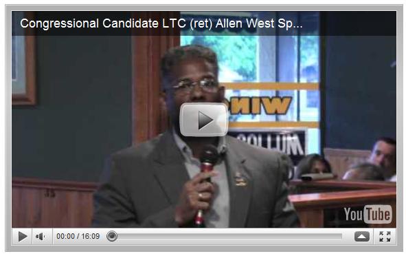Congressional Candidate LTC (ret) Allen West