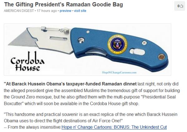 The Gifting President's Ramadan Goodie Bag