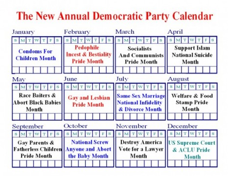 The New Annual Democratic Party Calendar