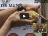 Magician pulls hamburger out of thin air!