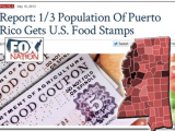1/3 Population of Puerto Rico Gets Food Stamps