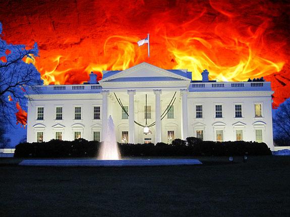 White-house Burning