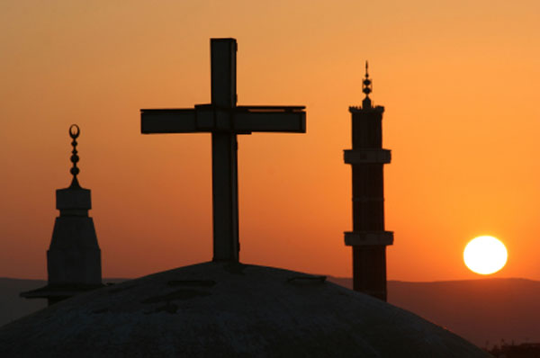cross & mosque