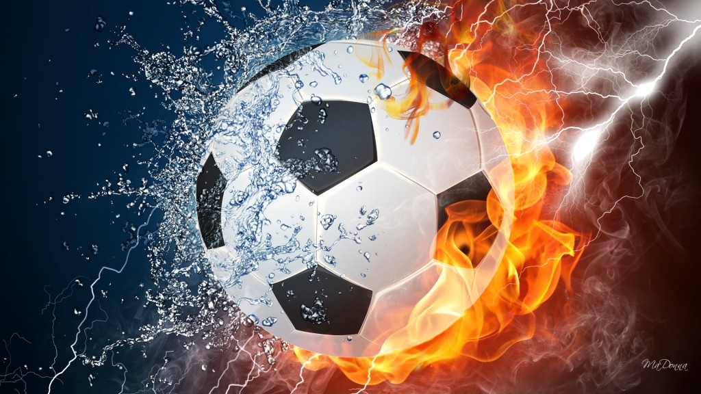 soccer on fire
